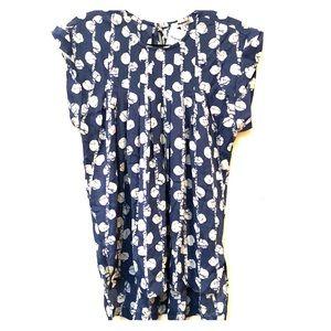 Silk madewell blue dot blouse